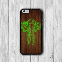 Mint Elephant Paint Wooden iPhone 6 Cases iPhone 6 Plus, iPhone 5/5S Case, iPhone 5C Case, iPhone 4/4S Case Hipster Printed Cell Phone Case