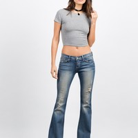 Released Hem Flared Jeans