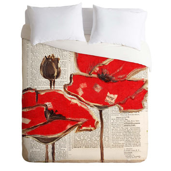 Irena Orlov Red Perfection Duvet Cover