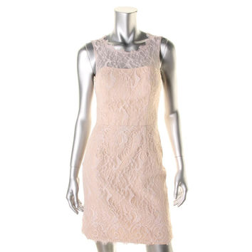 Jim Hjelm Occasions Womens Lace Fringe Cocktail Dress