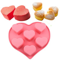 3D Heart Shape Silicone Cake Mold DIY Baking Tools Bakeware Maker