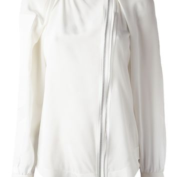 Givenchy Zip Front Blouse