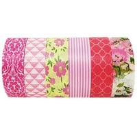 AllyDrew Pretty in Pink Japanese Washi Tapes Masking Tapes, set of 6