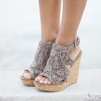 Candace Taupe Wedges