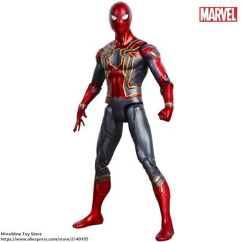 ZXZ Marvel Avengers Spider Man 17cm Action Figure Posture Model Anime Decoration Collection Figurine Toy model gift