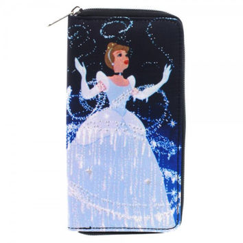 Disney Cinderella Large Zip Around Wallet