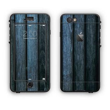 The Dark Blue Washed Wood Apple iPhone 6 LifeProof Nuud Case Skin Set