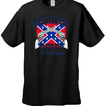 Men's T-Shirt Confederate Flag Redneck Rebel Pride Southern Dixie Tee