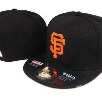 MDIGBE6 San Francisco Giants New Era MLB Authentic Collection 59FIFTY Hat Black-Orange