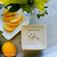 Mini-Love Note plate