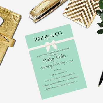 PRINTABLE Bride and Co. bridal shower invitation