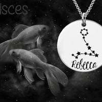 Pisces Constellation Zodiac Jewelry