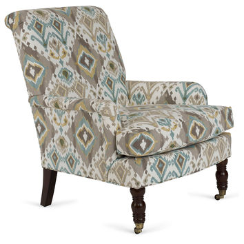 Abigail Chair, Off White/Blue, Accent & Occasional Chairs