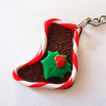 KEYCHAIN  Christmas Shoe by FrozenNote on Etsy