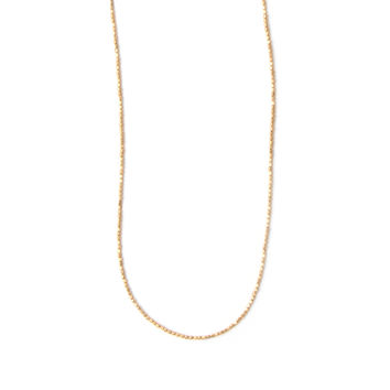 Tiny Brass Bead Necklace