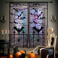 Halloween Decorations Spiderweb Lace Curtain
