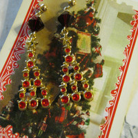 Vintage Christmas Tree Earrings