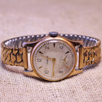 Vintage classic Pobeda womens gold plated watch russian watch ussr cccp