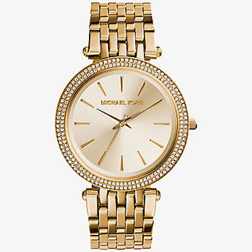 Darci Pavé Gold-Tone Watch | Michael Kors