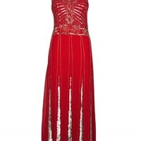 Red Sequin Maxi Dress | Dresses | Desire