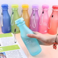 Hot Sale 550ML Candy Colord Portable Leak-proof Water Bottle Sport Unbreakable Plastic Lemon Juice Cup Drinkware BPA Free -40