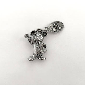 "Vintage Sterling Walt Disney Waving Mickey Mouse Collectible ""WDP"" Walt Disney Prod Hallmark, Travel Charm, Disney World, Disneyland"