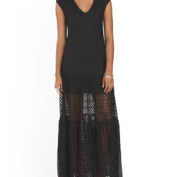 Olivaceous Lace Resort Maxi Dress