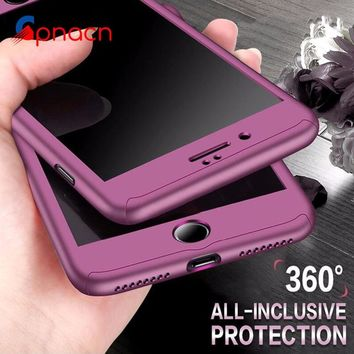 GPNACN 360 Degree Full Cover Phone Case For Apple iPhone X 7 8 6 6s Plus Protective Cases For iPhone 6 S 6s 7 8 Plus With Glass