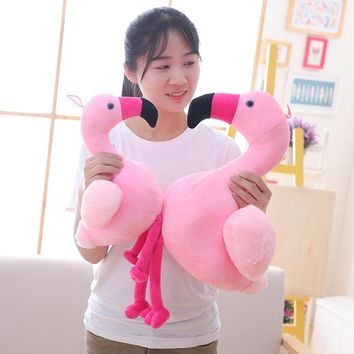 Hot Flamingo Plush children Toy Soft Stuffed pillow Cute Animal Flamingo Lovely Dolls for Kids friends Appease Toy Baby Girl's