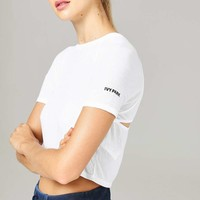 Cut Out Layered Crop Tee by Ivy Park | Topshop