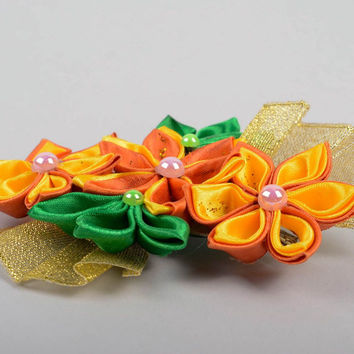 Handmade massive hair clip designer unusual hair accessory stylish hair clip