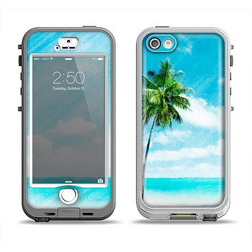 The Paradise Beach Palm Tree Apple iPhone 5-5s LifeProof Nuud Case Skin Set