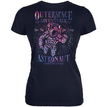 Outer Space Adventurer Astronaut Aim For The Stars Juniors Soft T Shirt