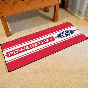 FANMATS Ford Oval with Stripes Floor Runner Mat Rug - Red