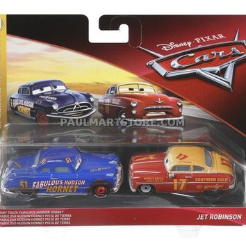 Cars 3 Diecast 1:55 Scale Movie Moments 2 pack- Fabulous Hudson Hornet Jet Robinson PREORDER