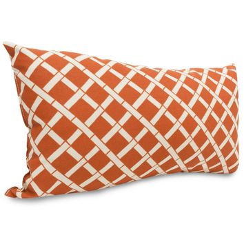 Burnt Orange Bamboo Small Pillow