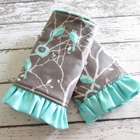 Ruffled Sparrow Song Suck Pads - Drool Pads to Match Kinderpack - Ready To Ship