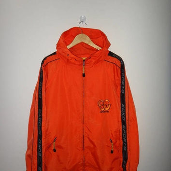 May On Sale 30% Off Rare Ecko Sports Windbreaker Jacket Orange Karl Kani Fubu Hip Hop Streetwear