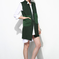 Color Block  Knit Vest OU0061