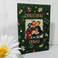 Christmas Carols Booklet Nine Classic Christmas Songs in Print Form with Music & Lyrics ©1949 Christmas Club Corporation Caroling Music Book