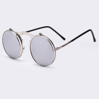 Vintage Designer Steam Punk Circle Sun Glasses