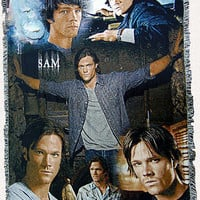 Supernatural Inspired Sam Throw Blanket