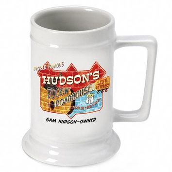 16oz. Ceramic Beer Stein - Roadhouse