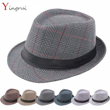 New spring and summer fashion gentleman Cowboy hats men s caps j 266b01ce889a