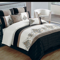 JACOB BEDDING SET QUEEN - 8 PC.