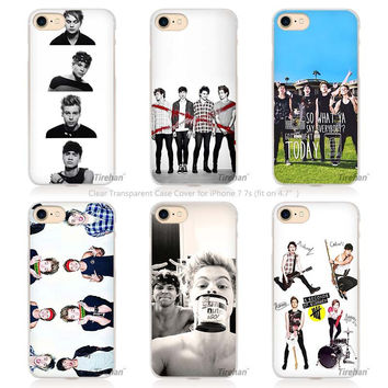 Hot sale 5 Seconds of Summer ashton sos Hard Transparent Phone Case Cover Coque for Apple iPhone 4 4s 5 5s SE 5C 6 6s 7 Plus