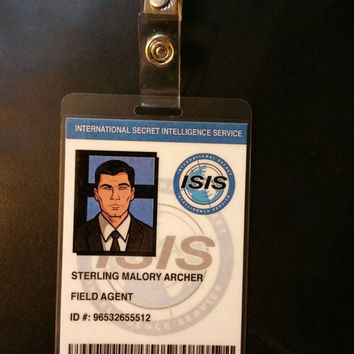 Archer TV Show Sterling Archer I.D. Badge