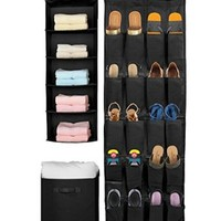 Sorbus® Set of 3 Foldable Storage Box Cube Basket, Hanging Closet Shelves Organizer, Hanging Shoe Organizer