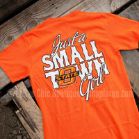 JUST A SMALL TOWN GIRL TEE - OKLAHOMA STATE