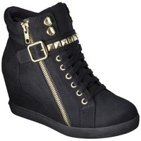 Women's Mossimo Supply Co. Kady High Top Sneaker Wedge - Black